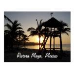 Postal del mar del Caribe de Cancun México del may