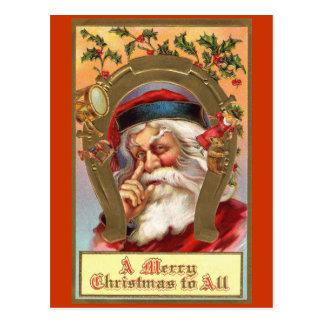 Postal del mensaje de Papá Noel