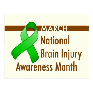 Postal del mes de la conciencia de la lesión cereb