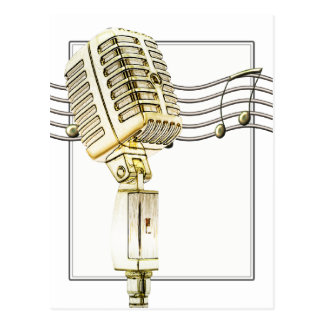 Postal del micrófono del vintage