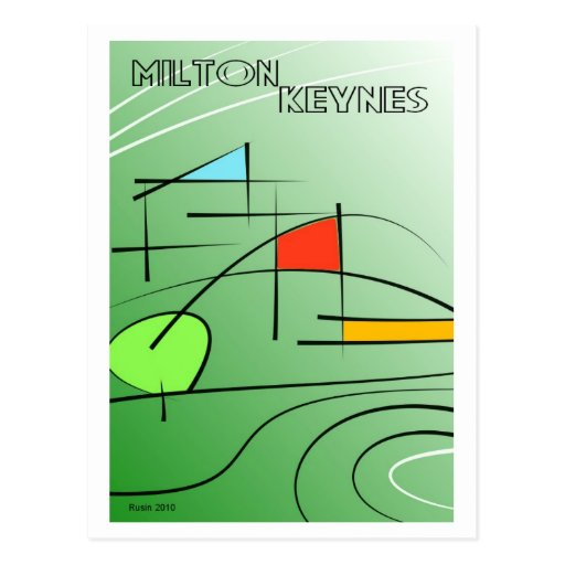 Postal del minimalism de Milton Keynes