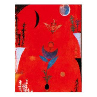 Postal del mito de la flor de Paul Klee