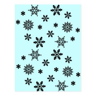 Postal del modelo de la invasión del copo de nieve