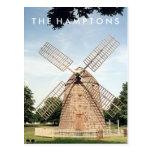 POSTAL del molino de viento de Hamptons