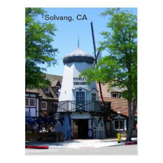 ¡Postal del molino de viento de Solvang! Tarjetas Postales