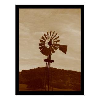 Postal del molino de viento