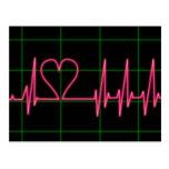 Postal del monitor de corazón