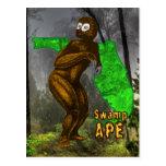 Postal del mono del pantano
