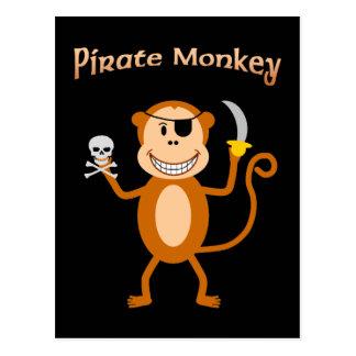 Postal del mono del pirata
