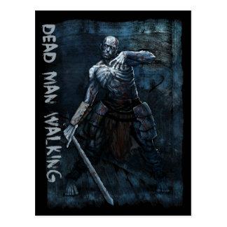 Postal del monstruo - el caminar muerto del hombre