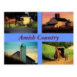 Postal del montaje de Amish