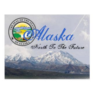 Postal del monte McKinley del sello del estado de
