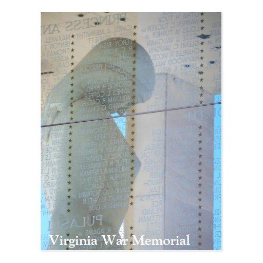 Postal del monumento de guerra de Virginia - Richm