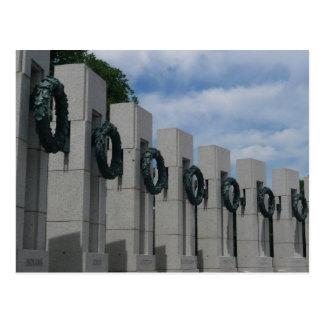 Postal del monumento de la Segunda Guerra Mundial