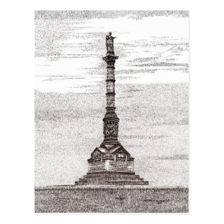 Postal del monumento de la victoria de Yorktown