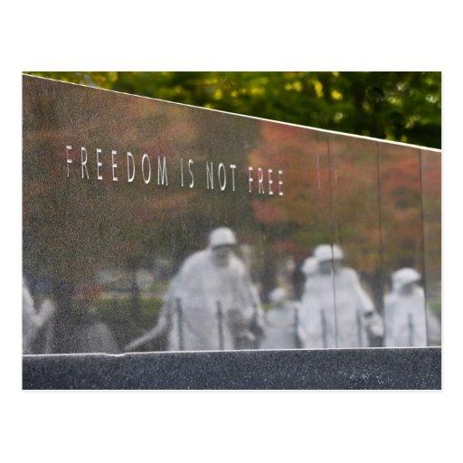 Postal del monumento de los veteranos de Guerra de