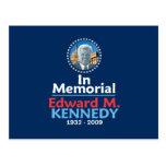 Postal del monumento de Ted Kennedy