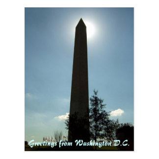 Postal del monumento de Washington