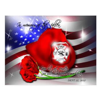 Postal del monumento del 9 /11 de septiembre