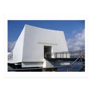 Postal del monumento del Pearl Harbor