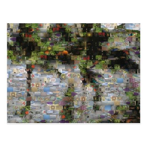 Postal del mosaico de la palmera