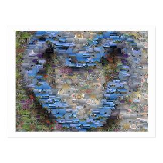 Postal del mosaico del corazón