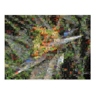 Postal del mosaico del hibisco
