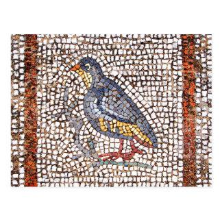 Postal del mosaico del pájaro de Kos