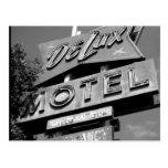 Postal del motel de Delux