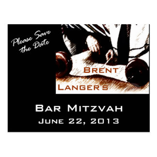 Postal del muchacho de Mitzvah de la barra