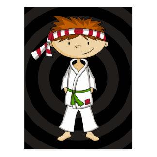 Postal del muchacho del karate