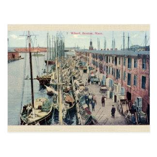 Postal del muelle de Boston del vintage