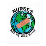Postal del mundo de las enfermeras