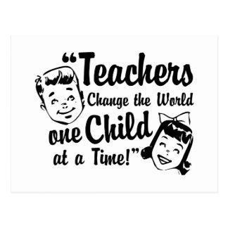 Postal del mundo del cambio de los profesores