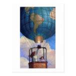 Postal del mundo del globo