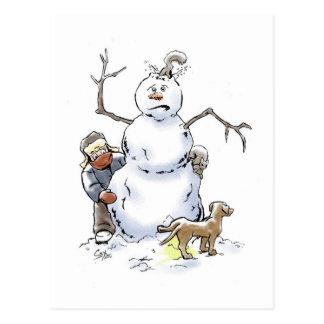 Postal del muñeco de nieve
