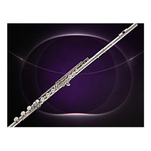 Postal del músico del flautista de la flauta