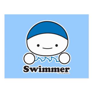 Postal del nadador