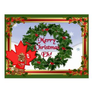 Postal del navidad de Canadá
