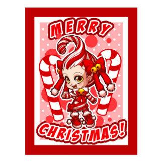 postal del navidad de Candycane-chan