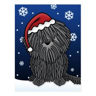 Postal del navidad de Kawaii Puli