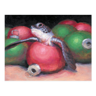 Postal del navidad de la Florida de la tortuga de