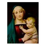 Postal del navidad de la madre y del niño