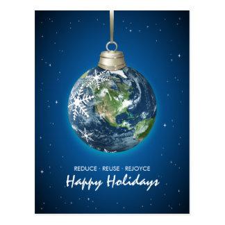 Postal del navidad de los días de fiesta de Eco de