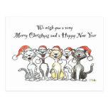 Postal del navidad de los gatos
