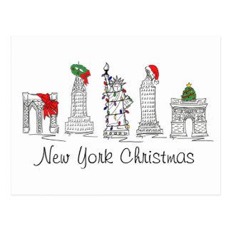 Postal del navidad de Nueva York
