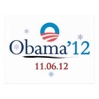 Postal del navidad de Obama 2012