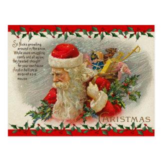 Postal del navidad de Santa