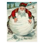 Postal del navidad de Santa del vintage