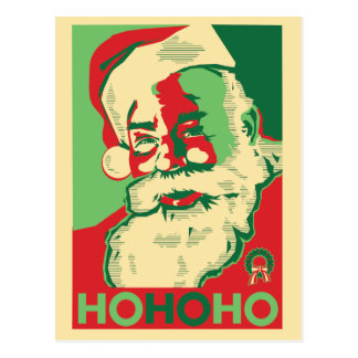 Postal del navidad de Santa - HoHoHo